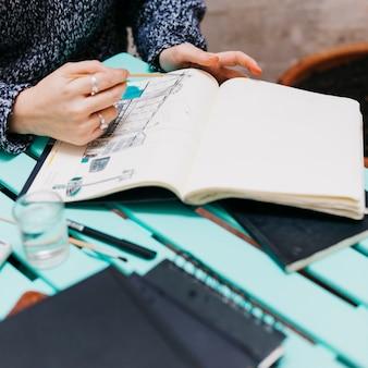 Crop woman coloring sketches