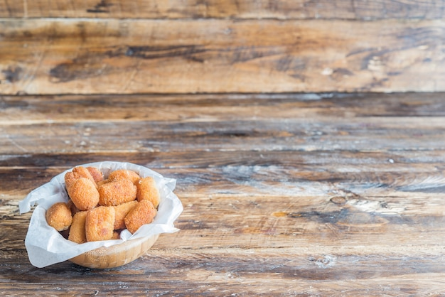 Croquettes typical tapa in spain