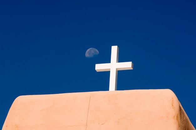 Cross on an adobe roof
