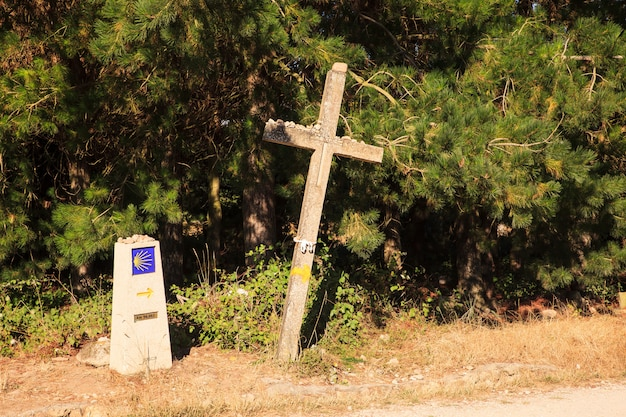 Cross along the way of st. james