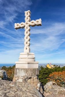 Cross high, of king ferdinand. pena palace sintra, sintra portugal.
