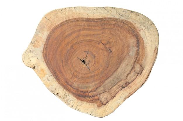年輪のある木の幹の断面