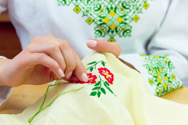 Cross stitching concept