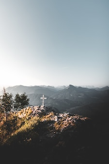Cross on the top of a mountain