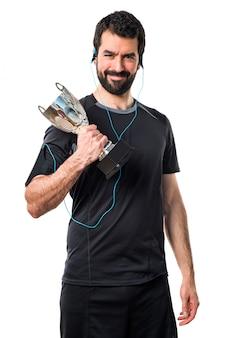 Crossfit award man gym lifestyle