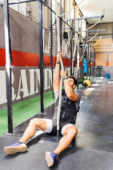 Crossfit concept with rope