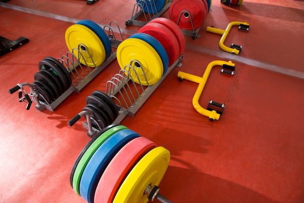 Crossfit fitness gym weight lifting bar equipment