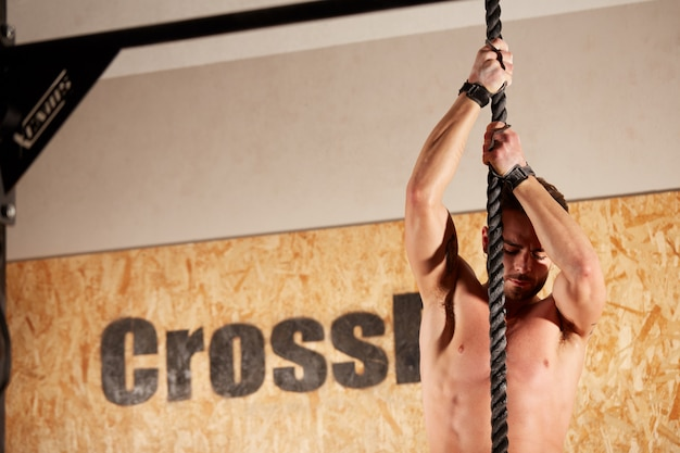 Crossfit workout at wod