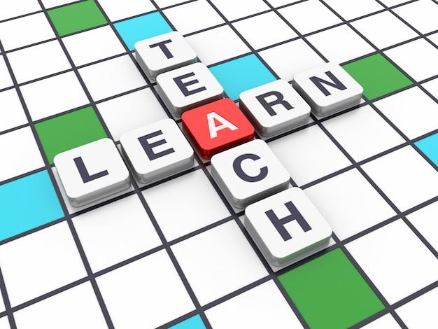 Crossword learn teach