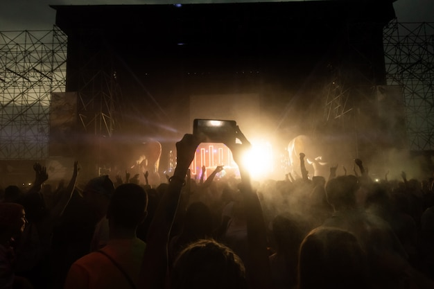 Crowd of fans at concert
