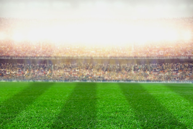 Crowded soccer football stadium