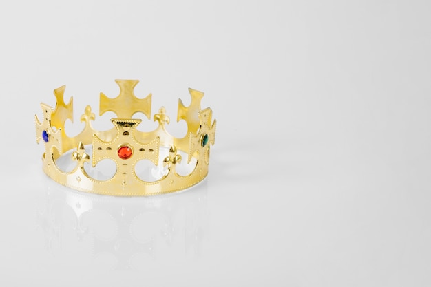 Crown on white background