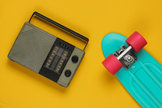 Cruiser board with old radio receiver