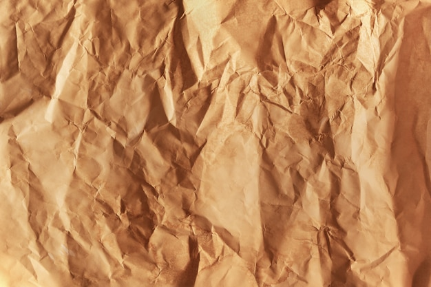 Crumped brown paper