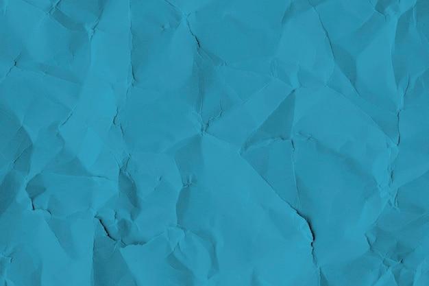 구겨진 된 블루 종이 질감 배경