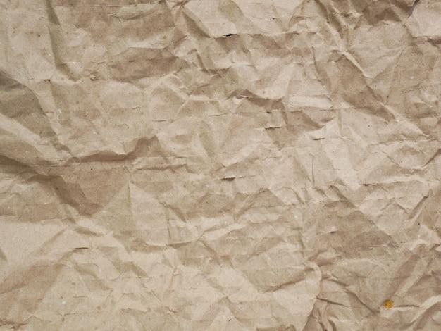 Crumpled brown cardboard paper texture