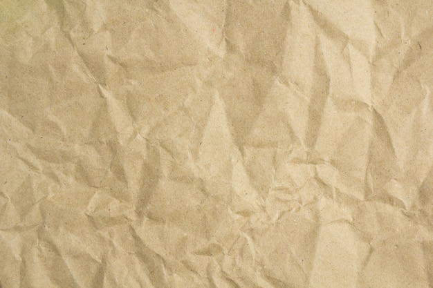 Crumpled brown paper list texture or background.