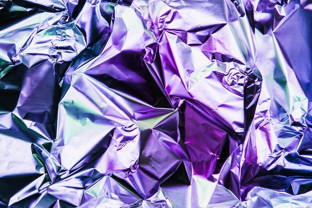 Crumpled colorful foil background