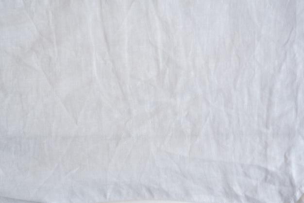 Crumpled cotton white seamless fabric