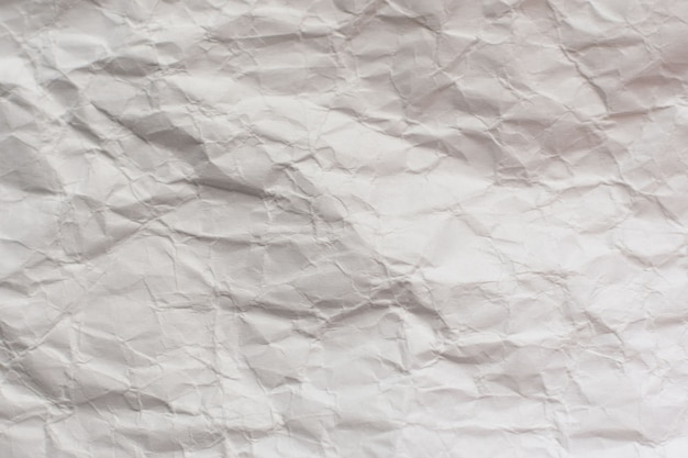 Crumpled craft package paper