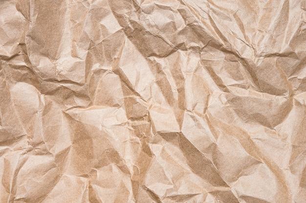 しわくちゃのクラフト紙の表面テクスチャ