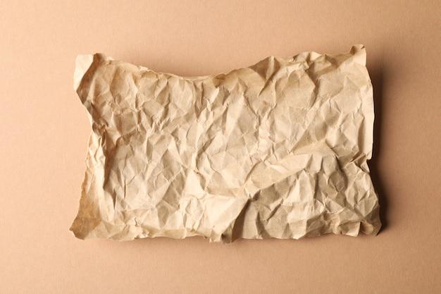 クラフト、しわくちゃの紙