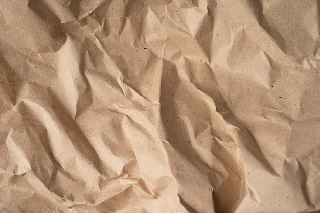 Crumpled paper. template for various purposes or creating packaging.