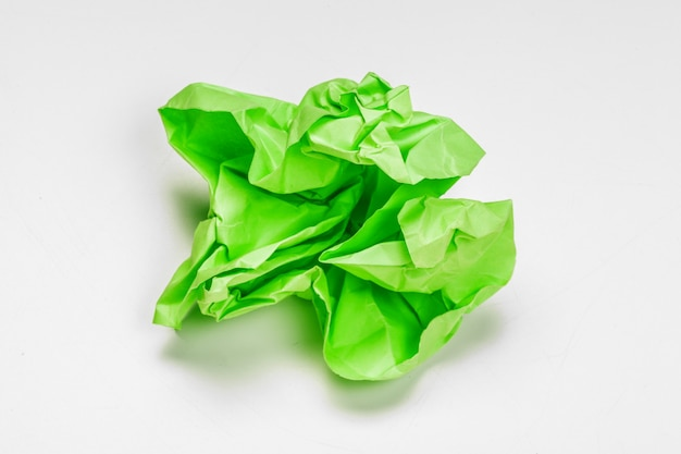Crumpled paper with curled edge