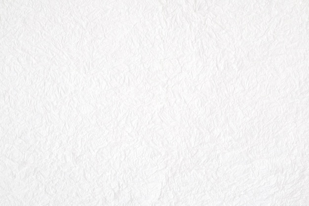Crumpled white mulberry paper textured background