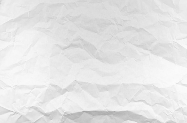 Crumpled white paper as texture or background