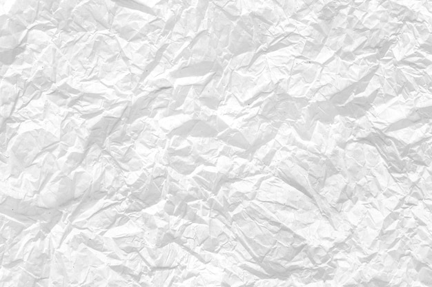 Crumpled white paper background