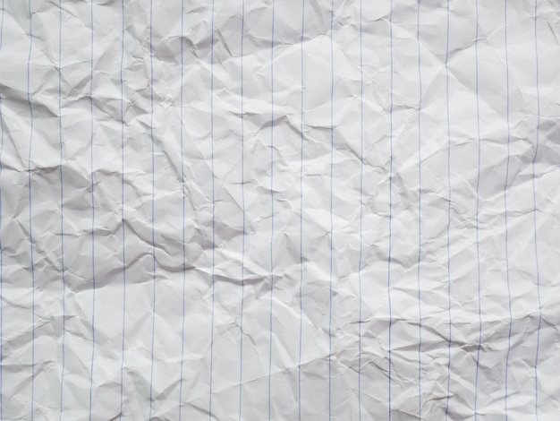 Crumpled white paper, dirty sheet letter texture