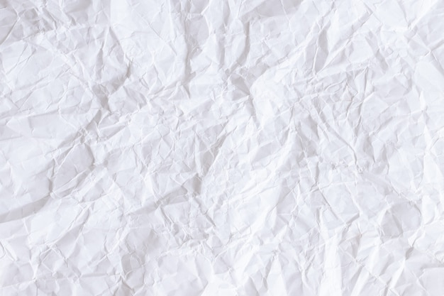 Crumpled white paper texture background