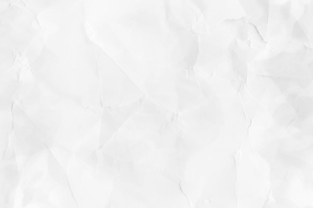 Crumpled white paper textured background