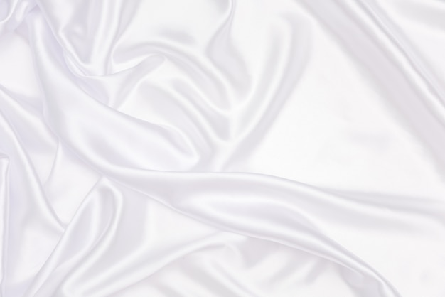 Crumpled of white satin for abstract and design