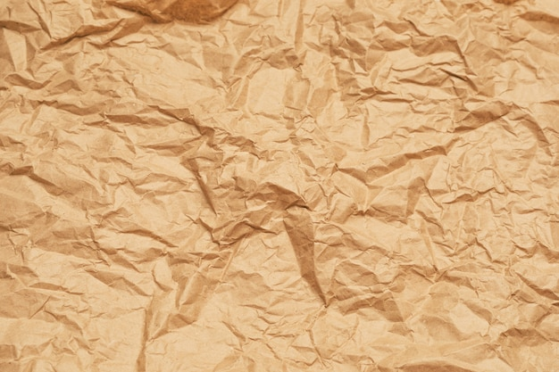 Crumpled wrapping paper background. horizontal banner. high quality photo
