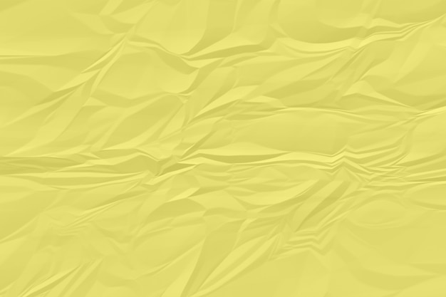 Crumpled yellow paper background close up