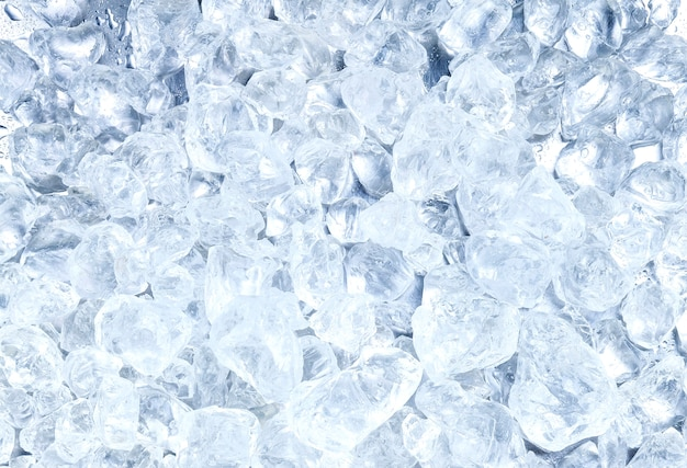 짓 눌린 된 얼음 배경