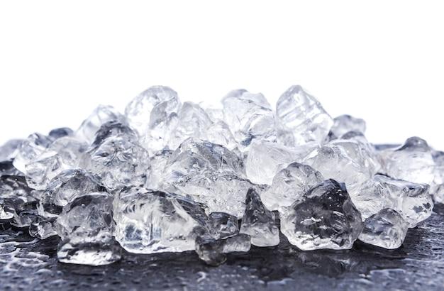 Crushed ice on white