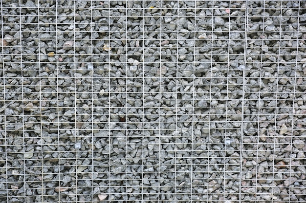 Crushed stone outdoors. natural material for construction works.