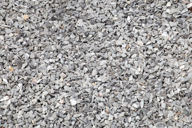 Crushed stone texture background.