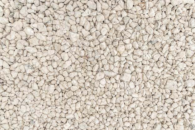 Crushed white stone