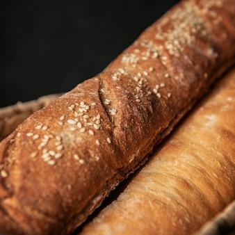 빵 클로즈업의 피 각질의 덩어리