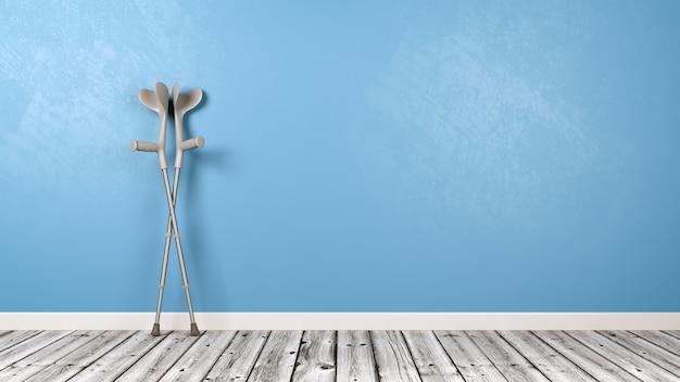 部屋の松葉杖