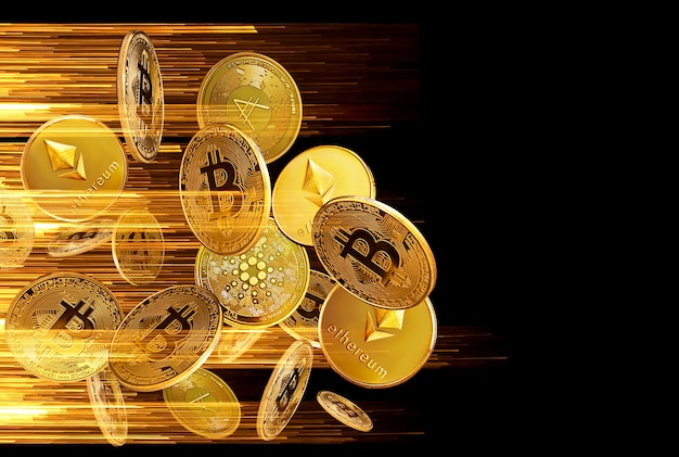 Crypto currency trading concept