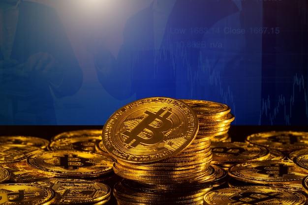 Концепция криптовалюты. биткойн, изолированные на белом фоне