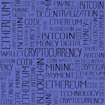 暗号通貨の概念ブロックチェーンファイナンステクノロジーテクスチャ