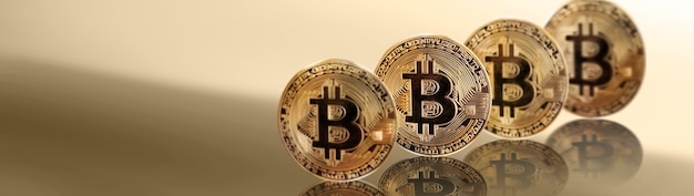 Cryptocurrency concept. trends in bitcoin exchange rates. rise and fall of bitcoin.