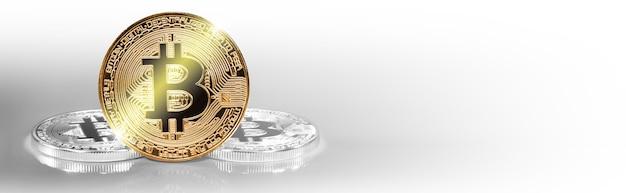 暗号通貨のコンセプト。ビットコインの為替レートの動向。ビットコインの浮き沈み。