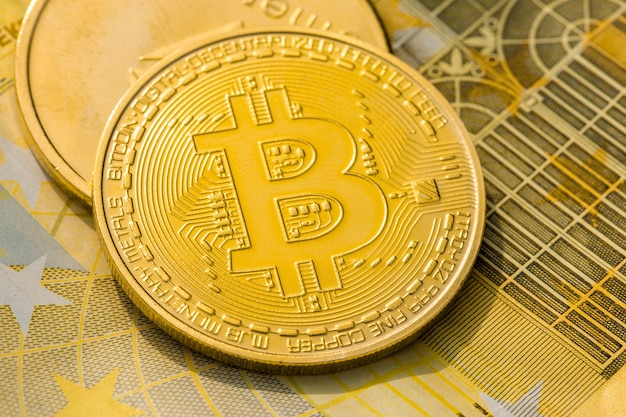 Cryptocurrency golden coins